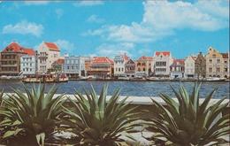 Nederlandse Antillen Curaçao Heerenstraat Postzegel Aruba Harbor Entrance Dutch Architecture - Curaçao
