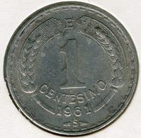 Chili Chile 1 Centesimo 1961 KM 189 - Chile