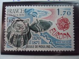 """1979-timbre Oblitéré N°    2047 """" Europa 79, Boule De Moulins    """"       0.30 - France"""