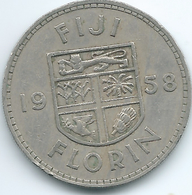 Fiji - Elizabeth II - 1958 - Florin - KM24 - Figi