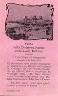 PORTSMOUTH  ,  Visita  Della  Divisione  Navale D Istruzione  Italiana - Portsmouth
