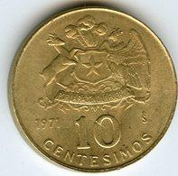Chili Chile 10 Centesimos 1971 KM 194 - Chile