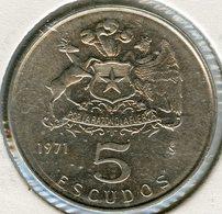Chili Chile 5 Escudos 1971 KM 199 - Chili