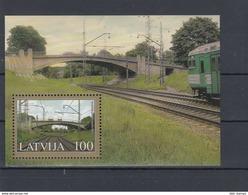 2005 Latvia / LETTLAND LOKOMOTIVE , TRAIN AND Bridge MNH - Latvia