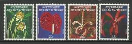 IVORY COAST COTE D' IVOIRE  1978  FLOWERS,ORCHIDS  SET  MNH - Végétaux
