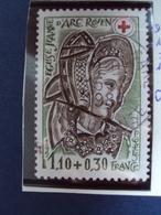 """1979-timbre Oblitéré N°  2070a  Dents 12.5 X 13  """"      """"croix Rouge, Eglise J;d'arc à Rouen 1.10 F + 0.30""""    -  0.80 - France"""