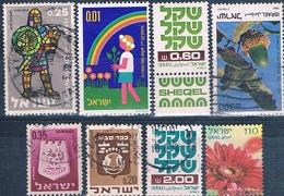 Israel 1961 / 2014  -  Michel  243 + 331 + 487 + 629 + 834 + 836 + 868 + 2392  ( Usados ) - Israel