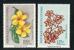 IVORY COAST COTE D' IVOIRE  1984  FLOWERS  SET  MNH - Végétaux