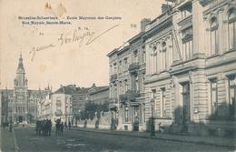 CPA - Belgique - Brussels - Bruxelles - Schaerbeek - Ecole Moyenne Des Garçons - Rue Royale Sainte Marie - Schaarbeek - Schaerbeek