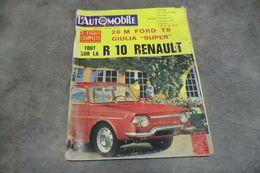 Magazine L'automobile N°232 Août 1965 - Tout Sur La R 10 Renault - - Auto/Moto