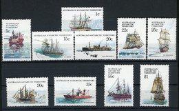Australian Antarctic Territory (AAT) BATEAU BOAT N°37 à 46 (10 Valeurs) Cote 16 € - Australian Antarctic Territory (AAT)