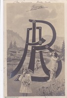 LETTRE    A  B   ENTRELACEES POUR UNE CARTE ENVOYEE  A ADOLPHE   BREUILLARD  1905 ,,,,TBE - Firstnames