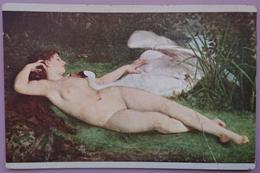 Paul-Laurent Courtot (1856-1925) - Leda And The Swan - Jeune Fille Nue - Naked Young Lady - Epoca Art Nv - Pittura & Quadri