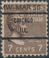 USA - Precancels, Preoblitére - CHICAGO, ILL. - Etats-Unis