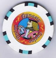 Casino Chip  1$ Casino Tinian Dynasty Island Of Tinian South Pacific - Casino