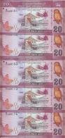 SRI LANKA 20 RUPEES 2010 UNC P 123 ( 5 Billets ) - Sri Lanka