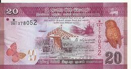 SRI LANKA 20 RUPEES 2015 UNC P 123 - Sri Lanka