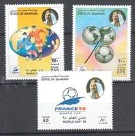 Bahrain Mnh ** 1998 Complete Set Football Worldcup Cat 5 Euros - Bahrain (1965-...)