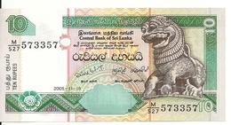 SRI LANKA 10 RUPEES 2005 UNC P 115 C - Sri Lanka