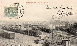 MONTPELLIER (34) Gare PLM; Départ D'un Train - Montpellier