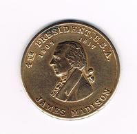 //   PENNING  JAMES MADISON 4 TH  PRESIDENT  U.S.A. - Pièces écrasées (Elongated Coins)