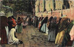Jerusalem (Israël) Le Mur Des Lamentations Des Juifs (The Jews Wailing Place) Carte N° 18222 Non Circulée - Israel
