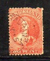 APR1032 - NEW NUOVA ZELANDA 1864 , Vittoria Yvert N. 30 Usato. Star (2380A) - Usati