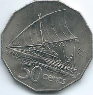 Fiji - Elizabeth II - 50 Cents - 2nd Portrait - 1982 (KM36) - Figi