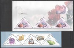 R003 2011 GUINEA NATURE GEOLOGY CRYSTALS MINERALS LES MINERAUX 2KB MNH - Minerals