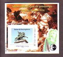 BLOC CNEP 2014 N° 65 ** SALON PHILATELIQUE PRINTEMPS CLERMONT FERRAND VERCINGETORIX  AVEC TP MONTIMBRAMOI - CNEP