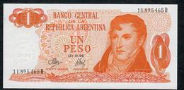 ARGENTINA P287 1 PESO 1970 Serie D UNC. - Argentina
