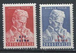 Trieste - Zone B YT 69-70 Sassone 72-73 XX / MNH Nicolas / Nikola Tesla - Trieste
