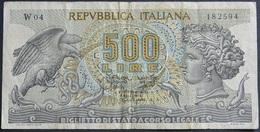 500L. W04 Serie Speciale Sostituiva 1967 Testa Di Aretusa - [ 2] 1946-… : Républic