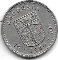 *rhodesia 10 Cents   1964  Km 2  Vf+ - Rhodesia