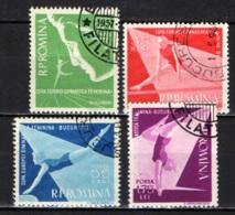 ROMANIA - 1957 - European Women's Gymnastic Meet - USATI - Oblitérés