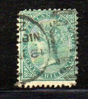 APR1046 - NEW NUOVA ZELANDA 1873 , Vittoria Yvert N. 57  Usato. NZ/star (2380A) - 1855-1907 Colonia Britannica