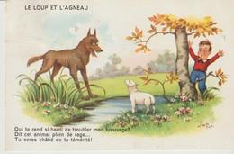 C.P.A. - LE LOUP ET L'AGNEAU - JIM PATT - M. D. - 2600 - - Fairy Tales, Popular Stories & Legends