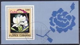 Cuba, 1983 - 100c Hedychium Coronarium, Foglietto - Nr.2658B Usato° - Flora