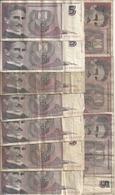 YOUGOSLAVIE 5 NOVIH DINARA 1994 VG+ P 148  ( 10 Billets ) - Yougoslavie