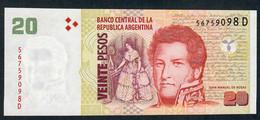 ARGENTINA P355 20 PESOS 2014suffix D  UNC. - Argentina