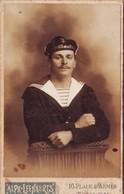 MILITARIA Militaire Marin Faite à Toulon  Photo Sur Carton  Format 105 X 65 - Documents
