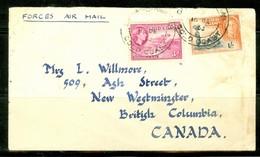 Courrier Militaire. Ghana, Ancien Gold Coast; Timbres Scott # 138 + 153. Courrier Vers Le Canada (0362) - Ghana (1957-...)