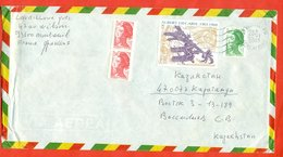 France 2003. The Envelope Passed The Mail. Art. Airmail. - France