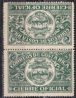Costa Rica - Gierre Oficial, Tete-Beche - MNH** - Costa Rica