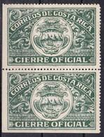 Costa Rica - Gierre Oficial, Coppia - MNH** - Costa Rica