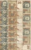 YOUGOSLAVIE 20 NOVIH DINARA 1994 VG+ P 150  ( 10 Billets ) - Yougoslavie