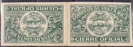 Costa Rica - Gierre Oficial, Imperf. Tete-Beche - MNH** - Costa Rica