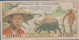 INDOCHINE -  1949 - 1 Piastre  (187J396)   Cat World N° 74    Excellent état      Voir Scans - Indochina