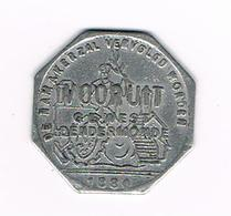 &- BROODKAART  1  VOORUIT GEWEST  DENDERMONDE 1880 - Monetary / Of Necessity
