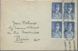 Lettre De PARIS Pour PARIS Affranchie Avec Un Bloc De 4 Timbres N° 471 - Marcophilie (Lettres)